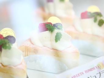 三重県四日市市にある和洋菓子スイーツのお店 富寿家のショーケース